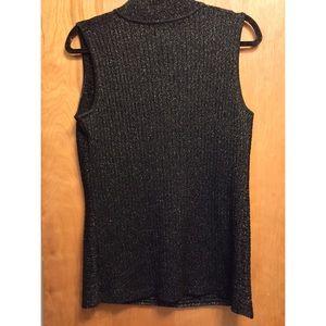 Sparkly black sleeveless top